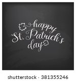 saint patrick's day vintage... | Shutterstock .eps vector #381355246