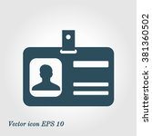 identification card icon. flat... | Shutterstock .eps vector #381360502