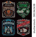 vintage motorcycle t shirt... | Shutterstock .eps vector #381362638