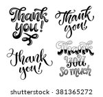 vector set of thank you... | Shutterstock .eps vector #381365272