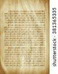 technology concept   old book... | Shutterstock . vector #381365335
