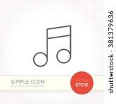 thin line design vector... | Shutterstock .eps vector #381379636