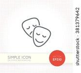 thin line design vector...   Shutterstock .eps vector #381379642