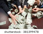 businesspeople grabbing money | Shutterstock . vector #381399478