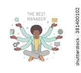many hands african american...   Shutterstock .eps vector #381400102