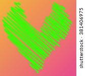 heart illustration icons...   Shutterstock . vector #381406975