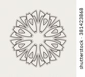 ornate mandala. gothic lace... | Shutterstock . vector #381423868