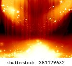 red stage background | Shutterstock . vector #381429682