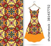 vector fashion illustration.... | Shutterstock .eps vector #381437752