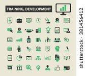 training  development icons | Shutterstock .eps vector #381456412