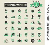 trophy  winner icons | Shutterstock .eps vector #381456472