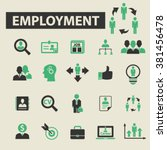 employment icons | Shutterstock .eps vector #381456478