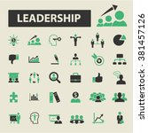 leadership icons | Shutterstock .eps vector #381457126