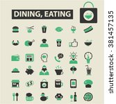 dining  eating icons | Shutterstock .eps vector #381457135