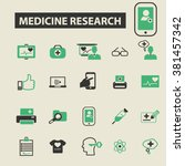Постер, плакат: medicine research icons medicine