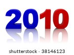 new year 2010 with clipping path | Shutterstock . vector #38146123