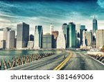 road to new york city. holiday... | Shutterstock . vector #381469006