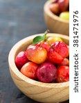 Small photo of Organic Brazilian Acerola Fruit small cherry.