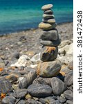 stack of stones on koh hin ngam ... | Shutterstock . vector #381472438