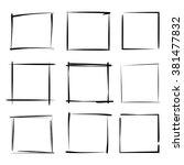 hand drawn grunge frames ... | Shutterstock .eps vector #381477832