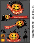 halloween design elements | Shutterstock .eps vector #38148241