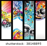 abstract colorful rainbow music ... | Shutterstock . vector #38148895
