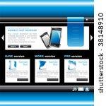 blue technology website...   Shutterstock . vector #38148910