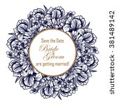 romantic invitation. wedding ... | Shutterstock . vector #381489142
