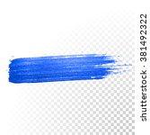 deep blue watercolor brush... | Shutterstock .eps vector #381492322