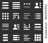 hamburger menu icons set. bar... | Shutterstock .eps vector #381495592