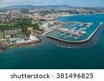 aerial view of cascais near... | Shutterstock . vector #381496825