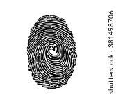 fingerprint. isolated object on ... | Shutterstock .eps vector #381498706