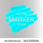 Vector turquoise stripes drawn with markers. Elements for design and background