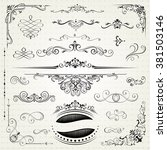 vintage frames and scroll... | Shutterstock .eps vector #381503146