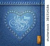 valentine's day lettering... | Shutterstock .eps vector #381514186