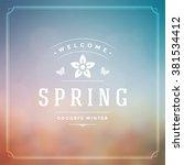 spring vector typographic... | Shutterstock .eps vector #381534412
