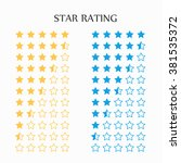 star rating in yellow and blue  ... | Shutterstock .eps vector #381535372