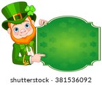 illustration of st. patrick's... | Shutterstock .eps vector #381536092