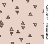 small triangles on a beige... | Shutterstock .eps vector #381546892