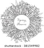 snowdrops  buds coloring books... | Shutterstock .eps vector #381549982