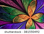 beautiful multicolored fractal... | Shutterstock . vector #381550492