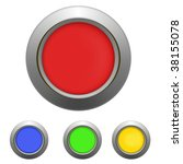 set of buttons  red  yellow ... | Shutterstock .eps vector #38155078