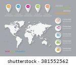 social media infographic... | Shutterstock .eps vector #381552562