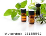 essential oils for aromatherapy ... | Shutterstock . vector #381555982