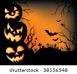 a spooky halloween background... | Shutterstock .eps vector #38156548