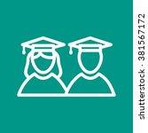 graduates | Shutterstock .eps vector #381567172
