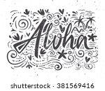 aloha shirts to print. hand... | Shutterstock .eps vector #381569416