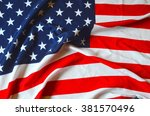 american flag as background | Shutterstock . vector #381570496