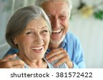portrait of a happy senior... | Shutterstock . vector #381572422