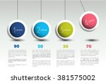 infographic vector option... | Shutterstock .eps vector #381575002